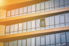 Modern office block with rows of windows Royalty Free Stock Photo