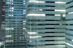 Modern office blocks at night Royalty Free Stock Images