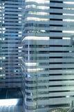 Modern office blocks at night Stock Images
