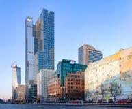 Modern office blocks in Warsaw, Poland Stock Image