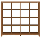 Modern office bookcase with square cells Royalty Free Stock Image