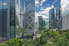 Modern office buidling. Skyline of Hong Kong City Stock Image
