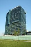 Modern office building. Modern office glass building witt blue sky Stock Photo