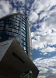 Modern office building. Of blue sky background Royalty Free Stock Image
