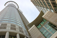 Modern office building. S downtown frankfurt germany royalty free stock images