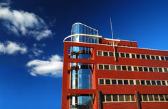 Modern office building. With blue skies Stock Image