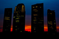 Modern Office Building. 4 modern office building in Putrajaya, Malaysia at sunset Royalty Free Stock Photography