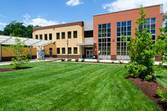 Modern office building. In suburban area Royalty Free Stock Photo