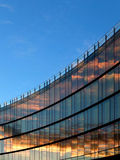 Modern Office Building. Modern glass office building with sunset reflection Stock Photography