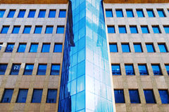 Modern Office Building. Close-up, Warsaw downtown, Poland Stock Photo