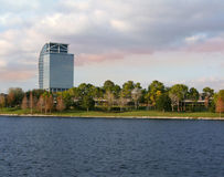Modern Office Building. Located near Crane Roost Lake, Altamonte Springs, Florida Royalty Free Stock Image