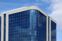 Modern Office Building. Office building with glass walls stock images