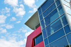 Modern office building. Architectural details of modern building. Architectural details of modern office building stock photography