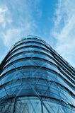 Modern office building with blue glass facade Royalty Free Stock Photo