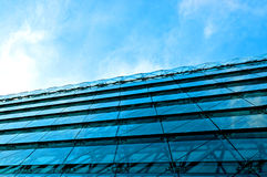 Modern office building with blue glass facade Royalty Free Stock Image