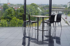 Modern office building cafeteria seating area Royalty Free Stock Photos