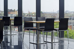 Modern office building cafeteria seating area Royalty Free Stock Photography
