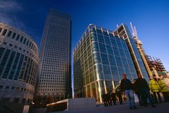 Modern office building, Canary Wharf Royalty Free Stock Images