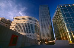 Modern office building, Canary Wharf Royalty Free Stock Image