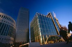 Modern office building, Canary Wharf Royalty Free Stock Photography
