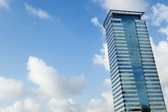 Modern Building & Sky. A modern office building on a cloudy day Stock Photo