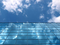 Modern office building detail. Modern building detail and bright sky stock photography