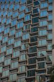 Modern office building detail, glass surface royalty free stock photography