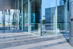 Modern office building entrance. In city of China Stock Photo