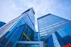 Modern office building  in evening Stock Images