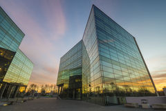 Modern office building in the evening Royalty Free Stock Images