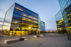 Modern office building in the evening Stock Photography