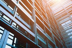 Modern office building exterior. Detail of modern office building exterior Royalty Free Stock Photos