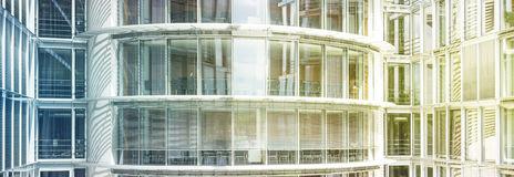 Modern office building exterior -  glass facade Royalty Free Stock Image