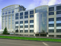 Modern office building. Facade of new modern office building of glass and concrete Stock Image
