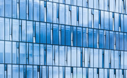 Modern office building facade, sky reflections Royalty Free Stock Photography