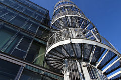 Modern office building and fire staircase Stock Photos