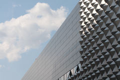 Modern office building. Fragment of facade. Stock Photos