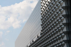 Modern office building. Fragment of facade. Royalty Free Stock Photo