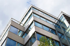 Modern office building with glass facade Royalty Free Stock Photo
