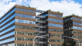 Modern office building with glass facade Royalty Free Stock Images