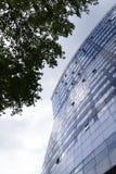 Modern office building glass facade exterior Royalty Free Stock Photo