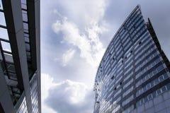 Modern office building glass facade exterior Stock Photo