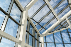 Glass roof of a modern office building Royalty Free Stock Photography