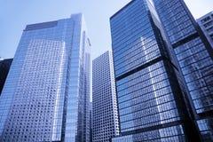 Modern Office Building, Hong Kong, China. Modern Office Building In Hong Kong, China - Blue Toning Stock Image