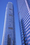 Modern Office Building, Hong Kong, China. Modern Office Building In Hong Kong, China - Blue Toning Royalty Free Stock Photography