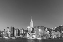Modern office building in Hong Kong city Royalty Free Stock Images