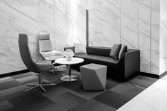 Modern Office building interior, black and white.  Stock Photography