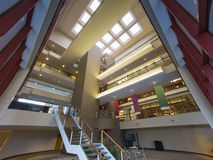 Modern office building lobby. With visible atrium floors Royalty Free Stock Photography