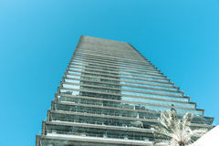 Modern office building low angle point of view Royalty Free Stock Photo