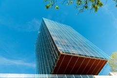 Modern office building in Madrid royalty free stock image